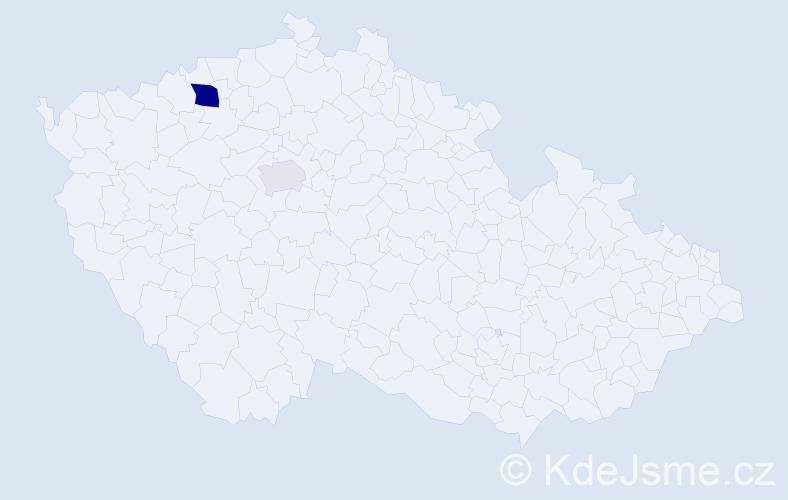 Příjmení: 'Kataník', počet výskytů 5 v celé ČR