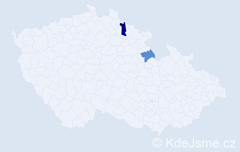 Příjmení: 'Fajstauer', počet výskytů 10 v celé ČR
