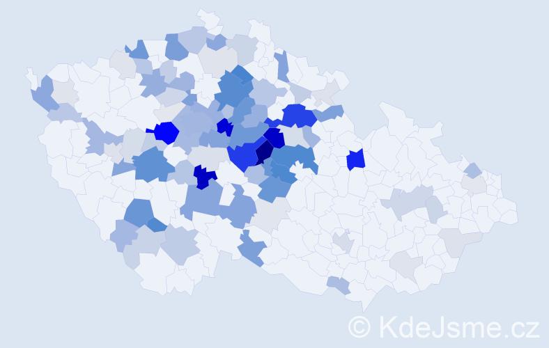 Příjmení: 'Černovská', počet výskytů 322 v celé ČR