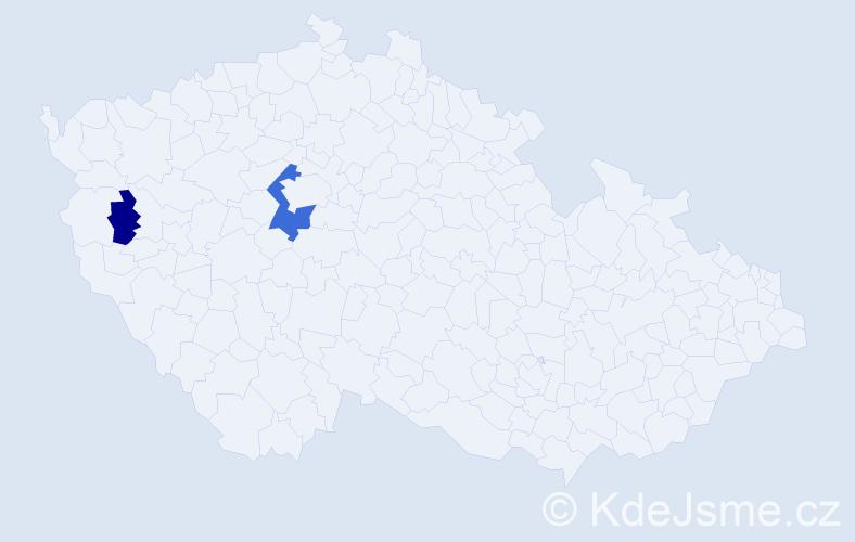 Příjmení: 'Braunschweig', počet výskytů 4 v celé ČR