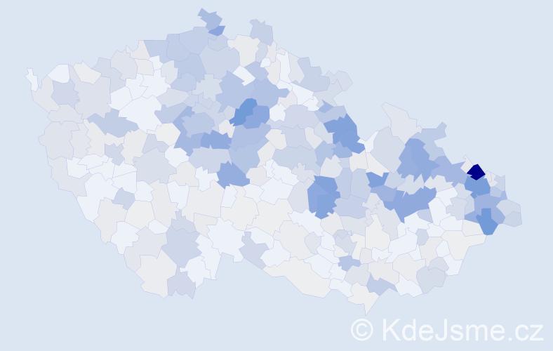 Příjmení: 'Dudková', počet výskytů 1504 v celé ČR