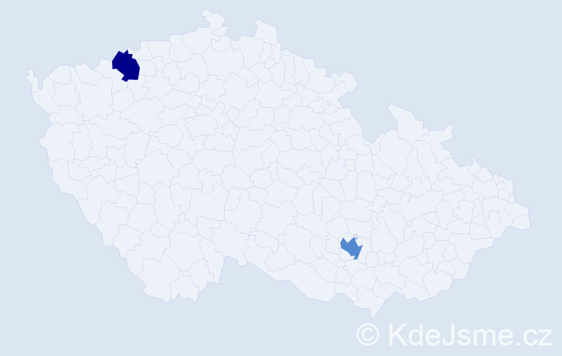 Příjmení: 'Habibi', počet výskytů 5 v celé ČR