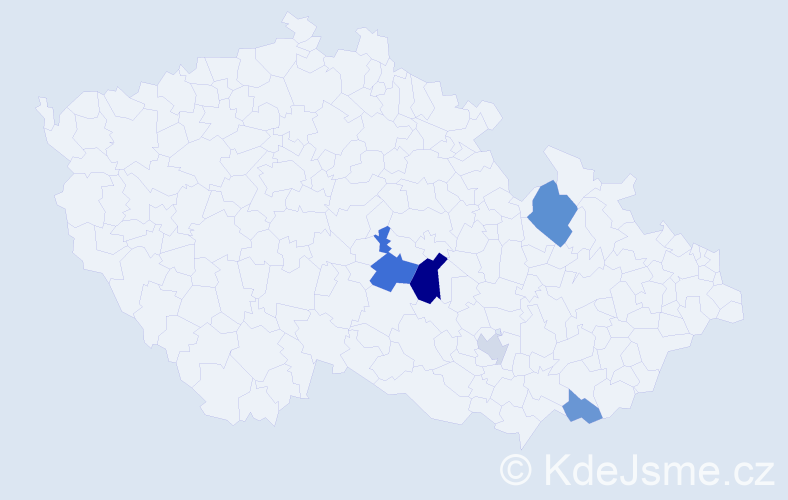 Příjmení: 'Hajčman', počet výskytů 9 v celé ČR