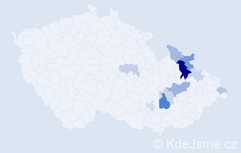 Příjmení: 'Čudovský', počet výskytů 22 v celé ČR
