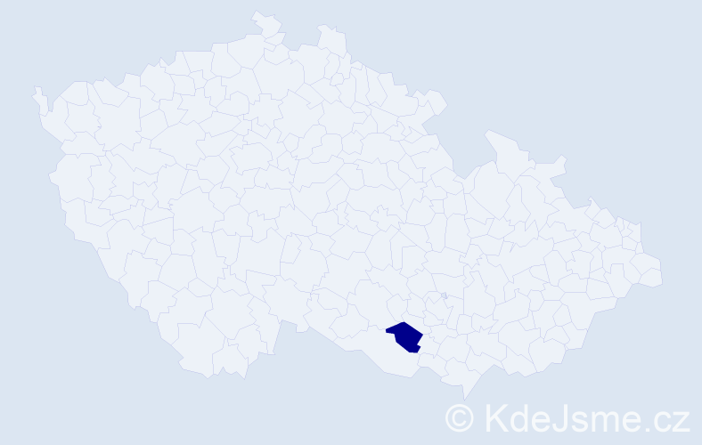 """Příjmení: '""""Kropát Karásek""""', počet výskytů 1 v celé ČR"""