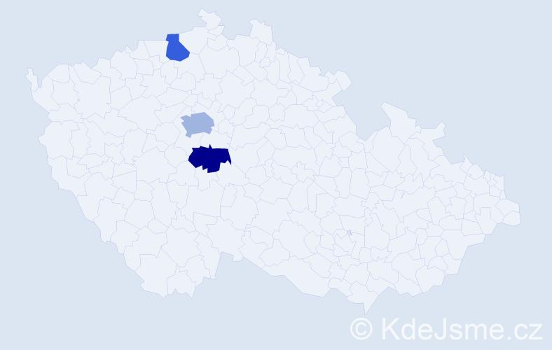 Příjmení: 'Griess', počet výskytů 4 v celé ČR