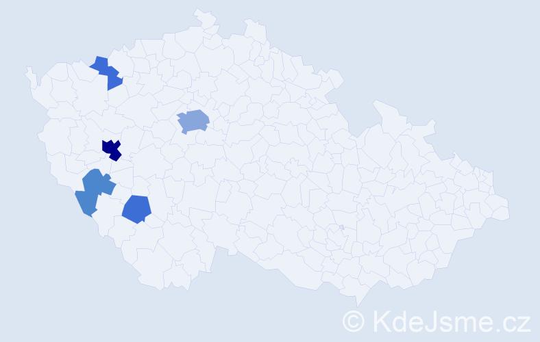 Příjmení: 'Čmelinská', počet výskytů 14 v celé ČR