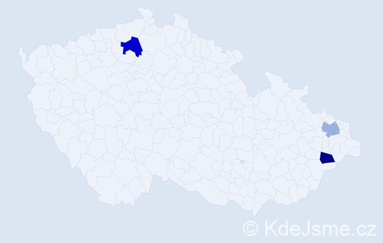 Příjmení: 'Cipiková', počet výskytů 7 v celé ČR