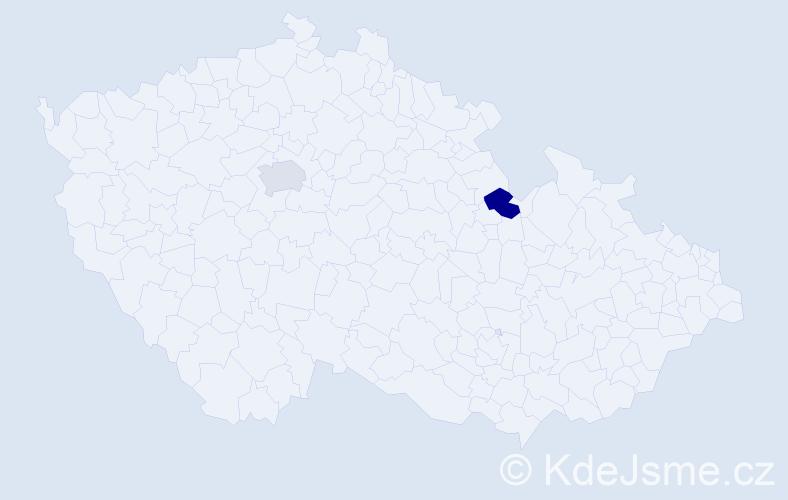 Příjmení: 'Balboa', počet výskytů 2 v celé ČR
