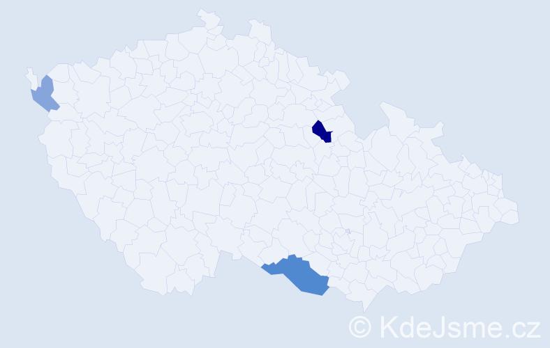 Příjmení: 'Güneş', počet výskytů 6 v celé ČR
