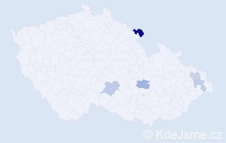 Příjmení: 'Čarnoká', počet výskytů 8 v celé ČR
