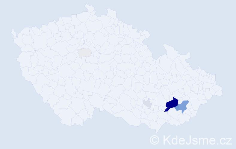 Příjmení: 'Bochořáková', počet výskytů 11 v celé ČR