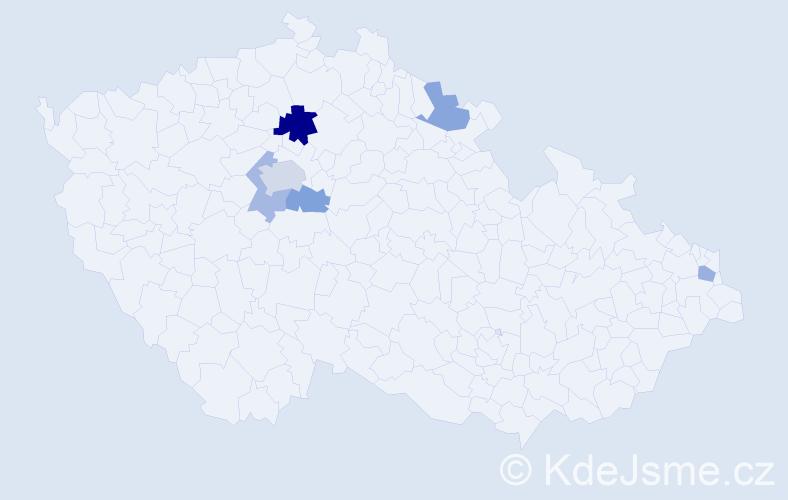Příjmení: 'Dydňanský', počet výskytů 10 v celé ČR