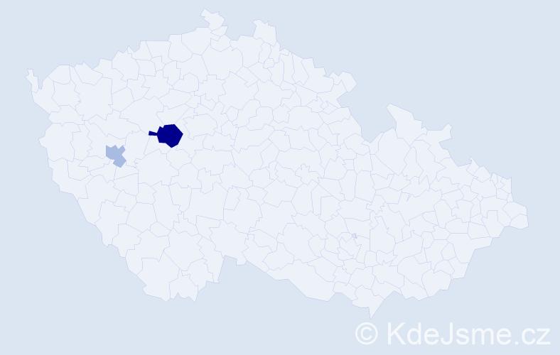 Příjmení: 'Idrisbeshir', počet výskytů 4 v celé ČR