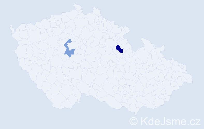 Příjmení: 'Koljaděnko', počet výskytů 6 v celé ČR