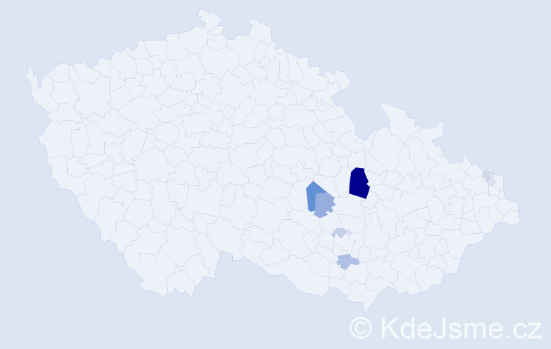 Příjmení: 'Budig', počet výskytů 25 v celé ČR