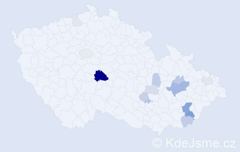 Příjmení: 'Bézová', počet výskytů 41 v celé ČR