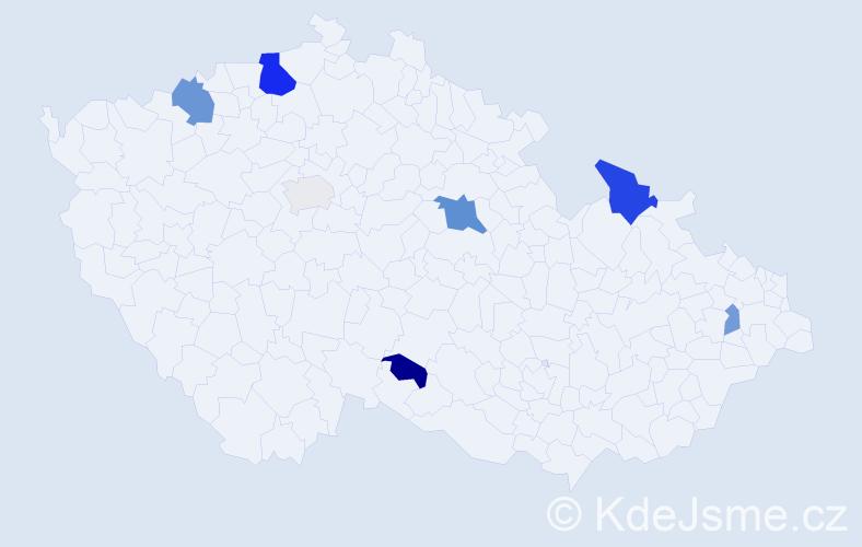 Příjmení: 'Antolík', počet výskytů 15 v celé ČR