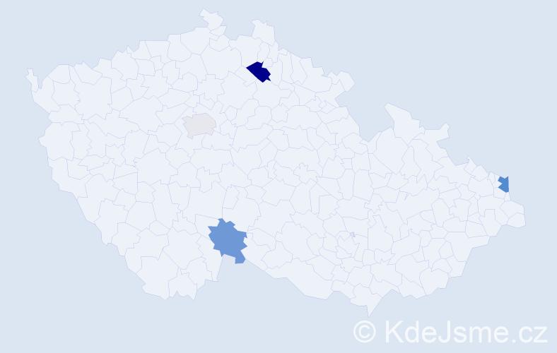 Příjmení: 'Fecurka', počet výskytů 6 v celé ČR
