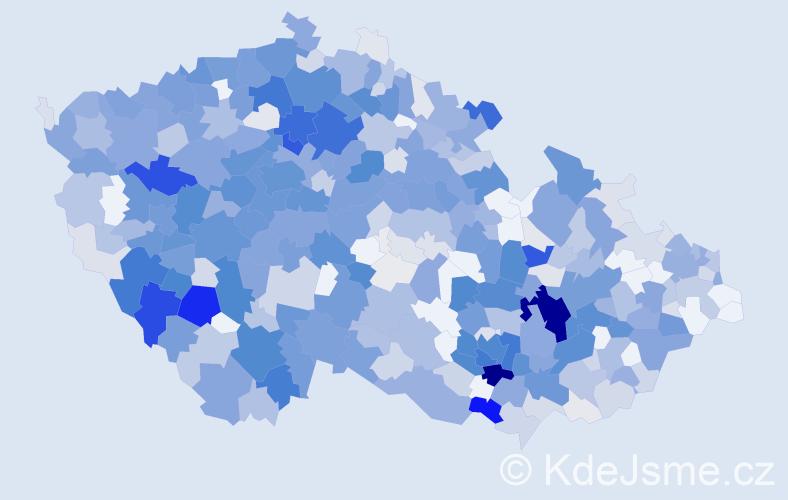 Příjmení: 'Kroupa', počet výskytů 2712 v celé ČR