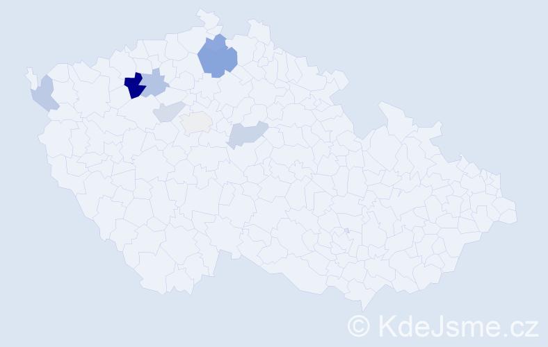 Příjmení: 'Kotapiš', počet výskytů 14 v celé ČR