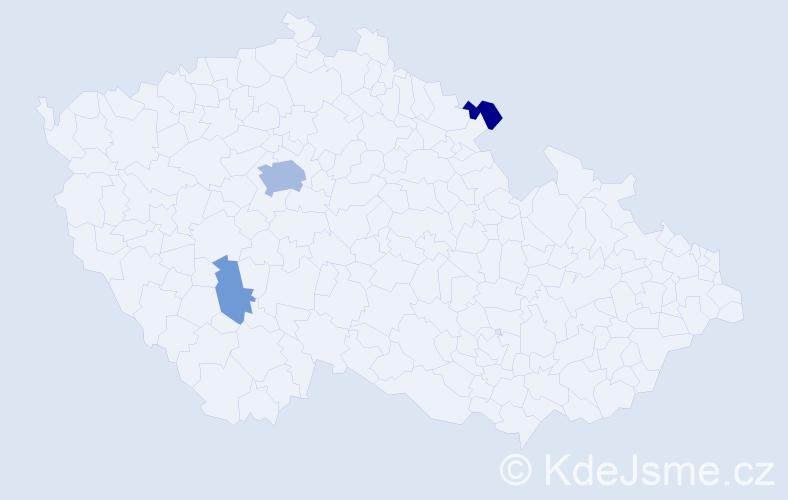 Příjmení: 'Ebenová', počet výskytů 8 v celé ČR