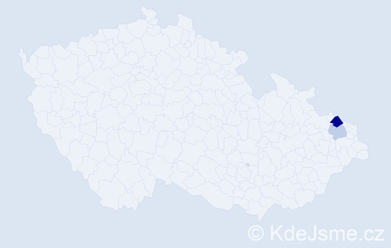 Příjmení: 'Esztérgályos', počet výskytů 3 v celé ČR