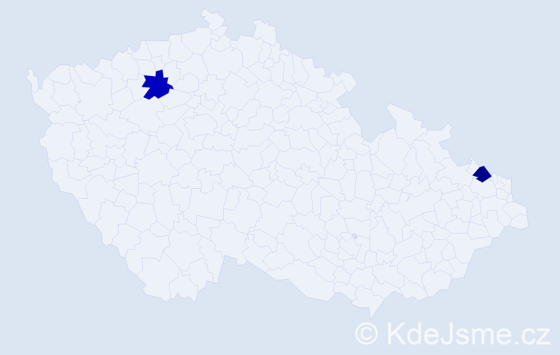 Příjmení: 'Abdeslam', počet výskytů 2 v celé ČR