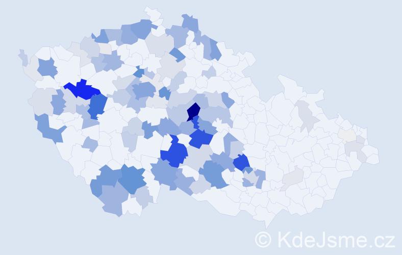 Příjmení: 'Běhounek', počet výskytů 428 v celé ČR