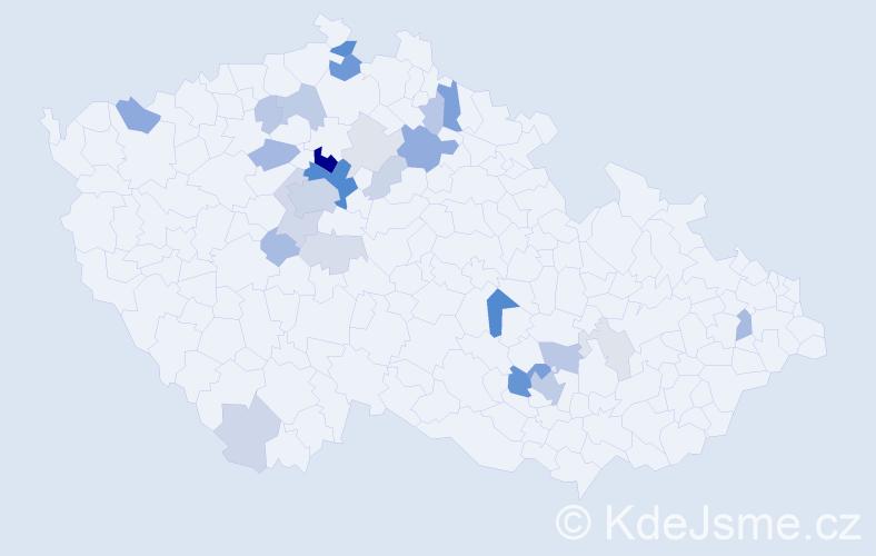 Příjmení: 'Jandourek', počet výskytů 86 v celé ČR