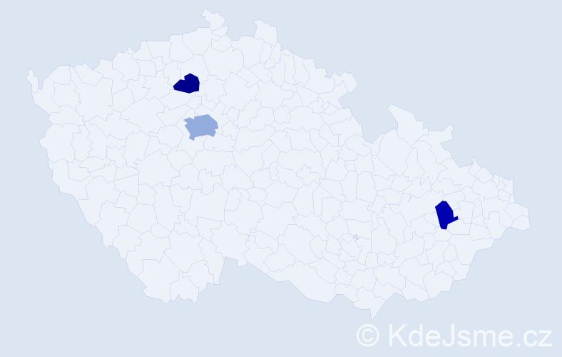 Příjmení: 'Baranay', počet výskytů 6 v celé ČR