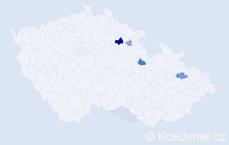 Příjmení: 'Jakischová', počet výskytů 12 v celé ČR