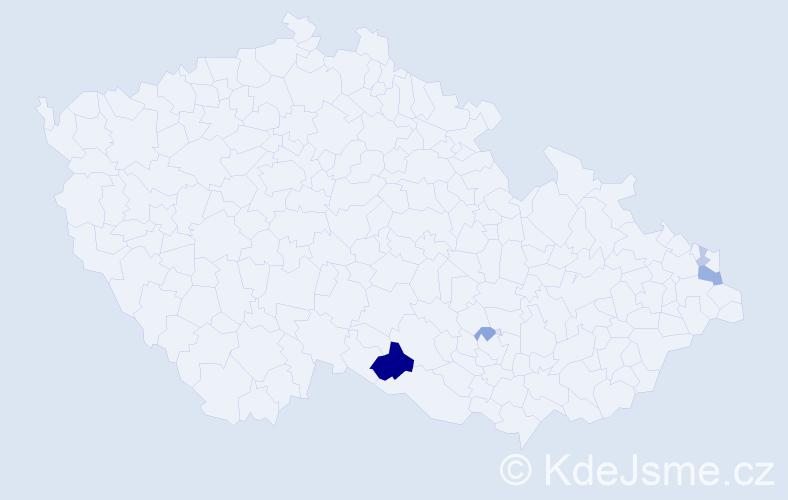 Příjmení: 'Malerz', počet výskytů 11 v celé ČR