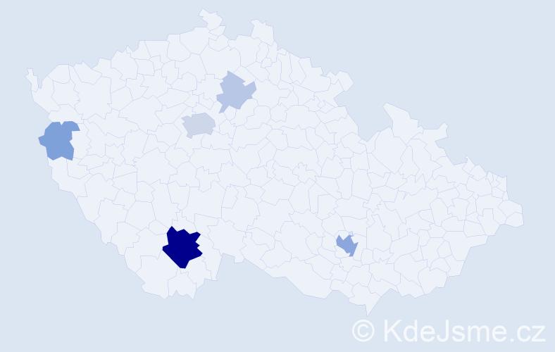Příjmení: 'Karpianusová', počet výskytů 23 v celé ČR
