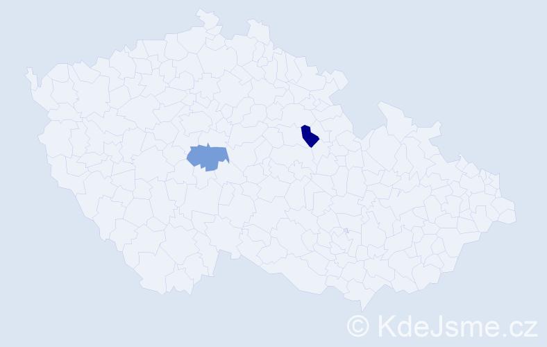 Příjmení: 'Gallschneiderová', počet výskytů 2 v celé ČR