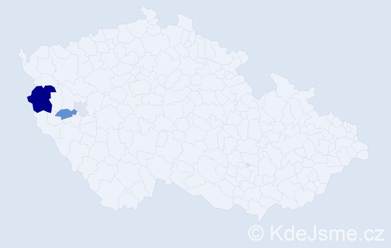 Příjmení: 'Gita', počet výskytů 11 v celé ČR