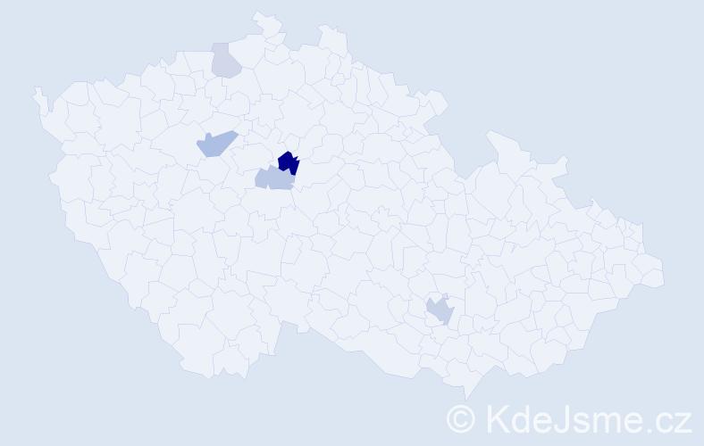 Příjmení: 'Farhat', počet výskytů 10 v celé ČR