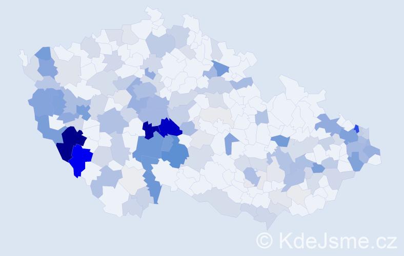 Příjmení: 'Javorský', počet výskytů 553 v celé ČR