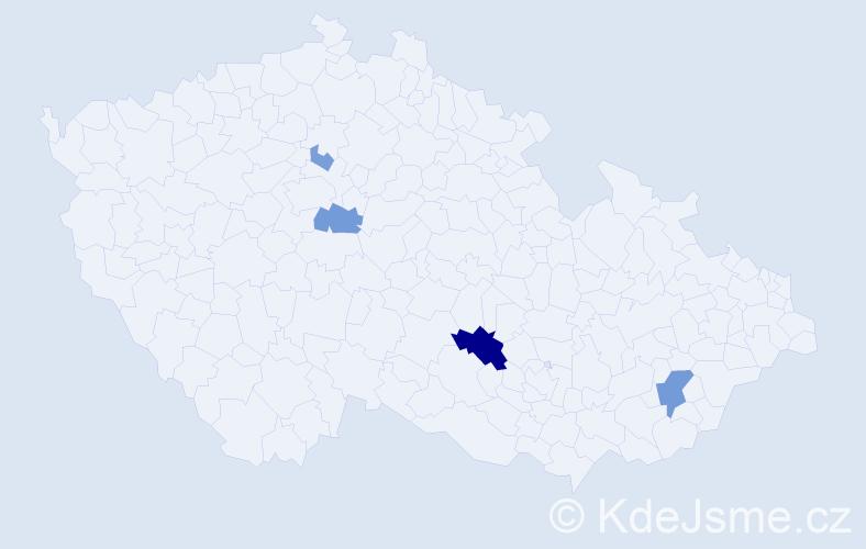 Příjmení: 'Láňková', počet výskytů 10 v celé ČR