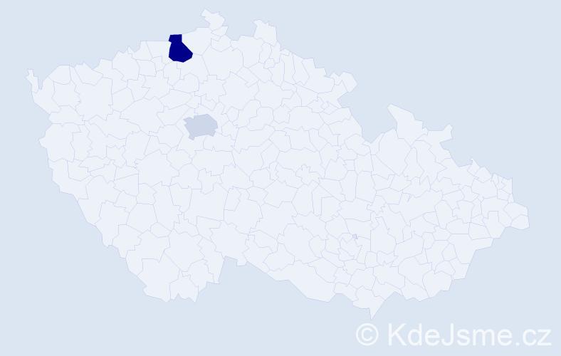 Příjmení: 'Lambora', počet výskytů 3 v celé ČR