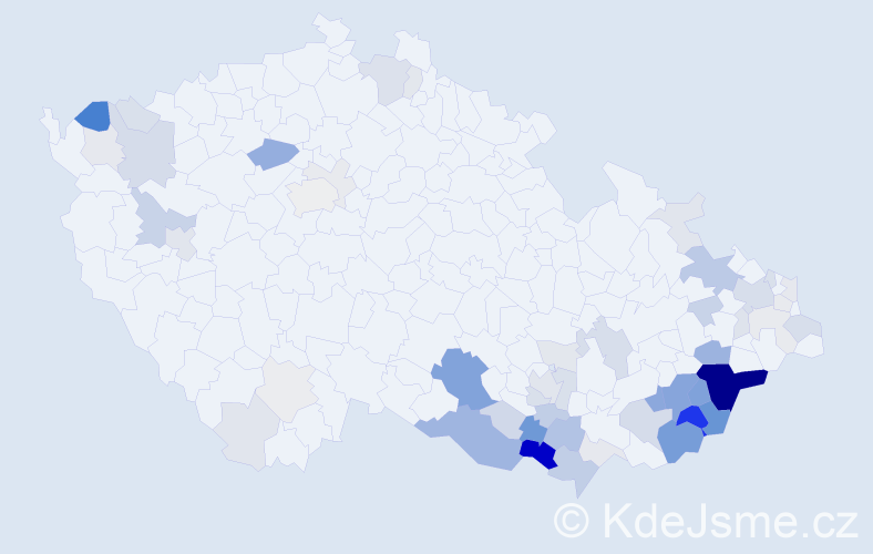 Příjmení: 'Kurtin', počet výskytů 211 v celé ČR