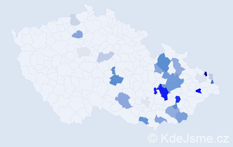 Příjmení: 'Hasníková', počet výskytů 54 v celé ČR