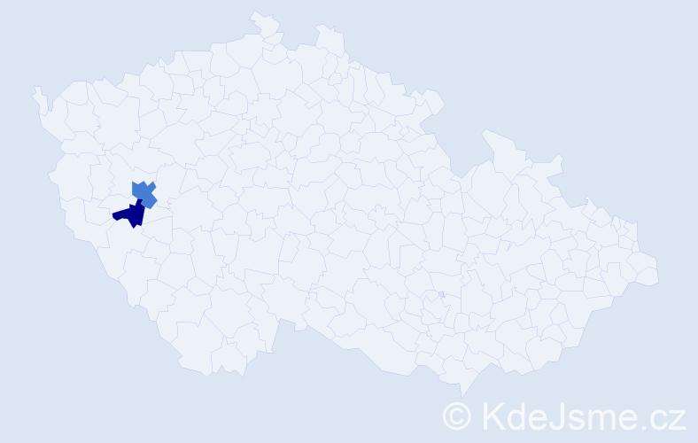 Příjmení: 'Lavrikovová', počet výskytů 4 v celé ČR