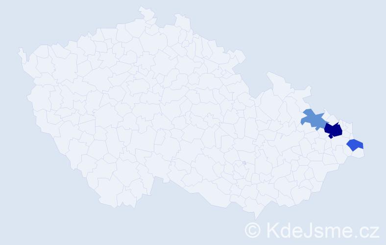 Příjmení: 'Galičák', počet výskytů 8 v celé ČR