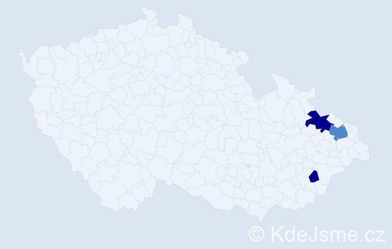 Příjmení: 'Hrehušová', počet výskytů 12 v celé ČR