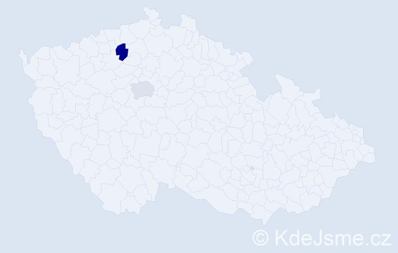 Příjmení: 'Hadžiosmanović', počet výskytů 4 v celé ČR