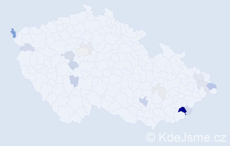 Příjmení: 'Argalášová', počet výskytů 48 v celé ČR