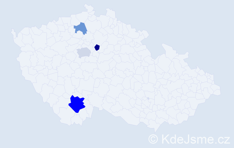 Příjmení: 'Chýňavová', počet výskytů 8 v celé ČR