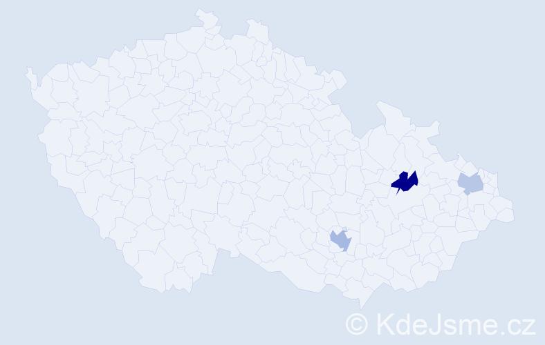 Příjmení: 'Citovecký', počet výskytů 7 v celé ČR