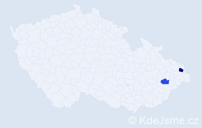 Příjmení: 'Byčkovová', počet výskytů 4 v celé ČR